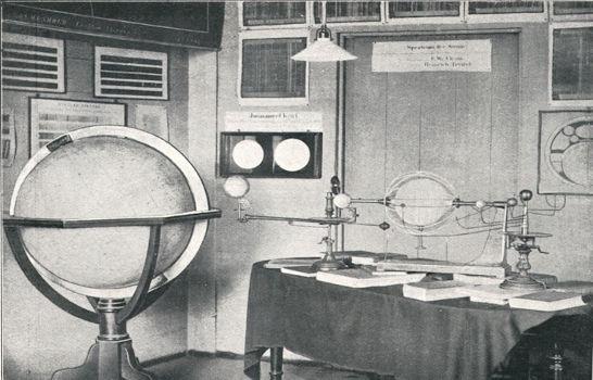 Ausstellungen und Experimente im Vortragssaal des Altbaus der Sternwarte