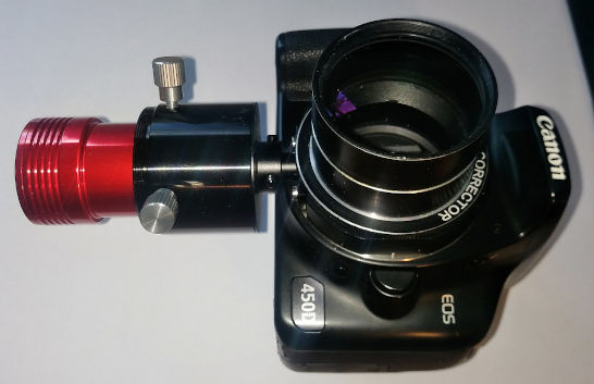 Canon 450D mit Komakorrektor, Foto: Alexander Görbing