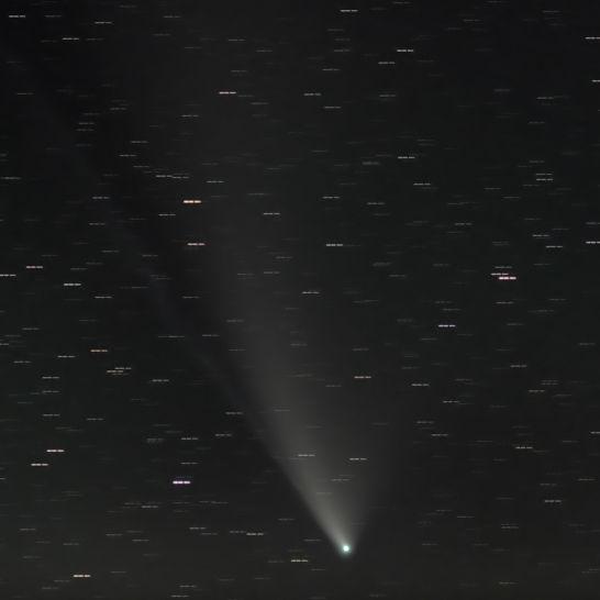 Komet NEOWISE am 24. 7. 2020, Foto: Guido Wortmann